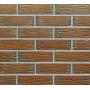 Облицовочный клинкерный кирпич RobenCanberra NF рифленый с оттенком