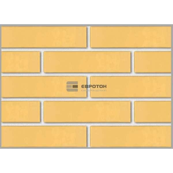 Кирпич клинкерный фасонный Жёлтый (250х120х65)