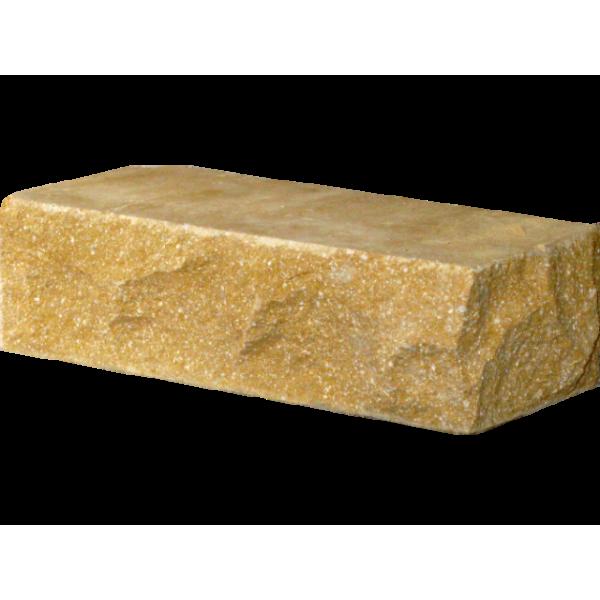 Гиперпрессованный кирпич угловой 225х100х65 желтый