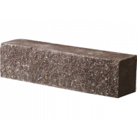 Кирпич гиперпрессованный Декор Бетон половинка рядовой коричневый