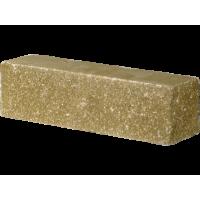 Кирпич гиперпрессованный половинка угловой Оливковый