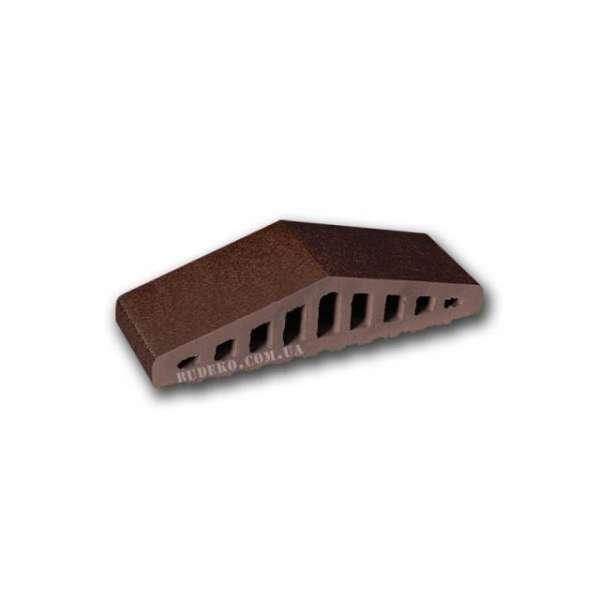 Элемент для забора, коричневый глазурованный