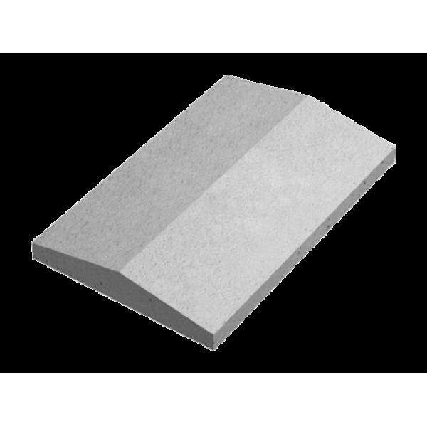 Крышка забора двускатная 390х600х75 мм