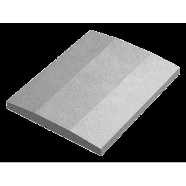Крышка забора двускатная со срезанным конусом 600х480х60 мм