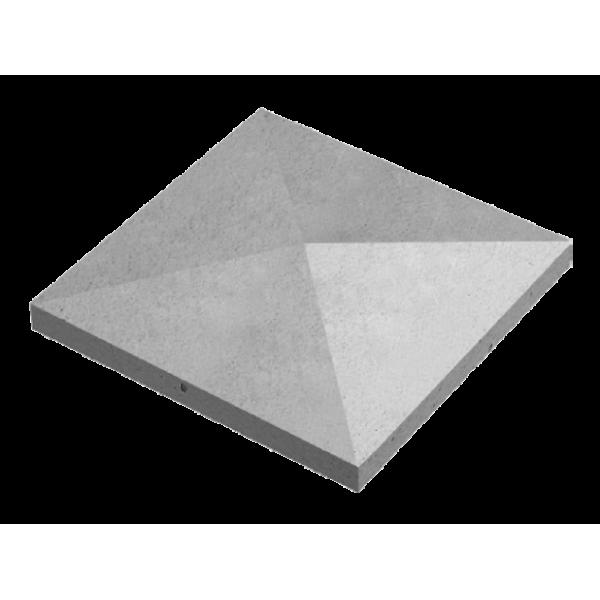 Крышка забора конусная 480х480х90 мм