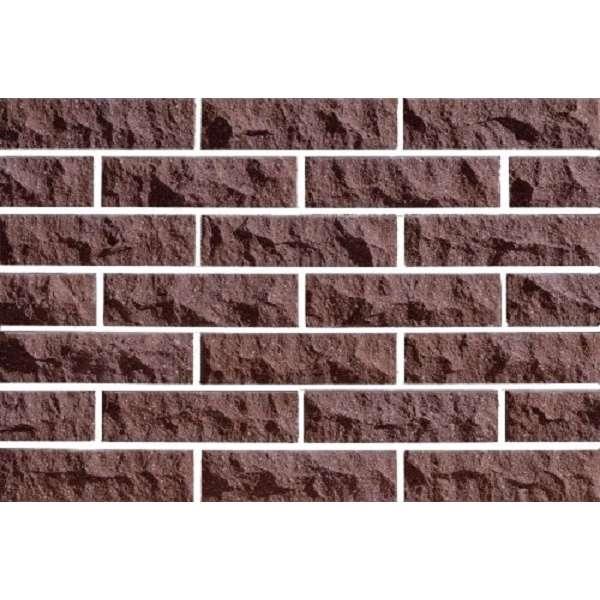 Гиперпрессованная фасадная плитка Евроцегла скала стандарт коричневая