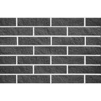 Плитка гиперпрессованная фасадная Евроцегла скала 200х65х20 черная