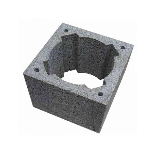 Блок дымоходный  керамзитобетонный 360х360х240мм