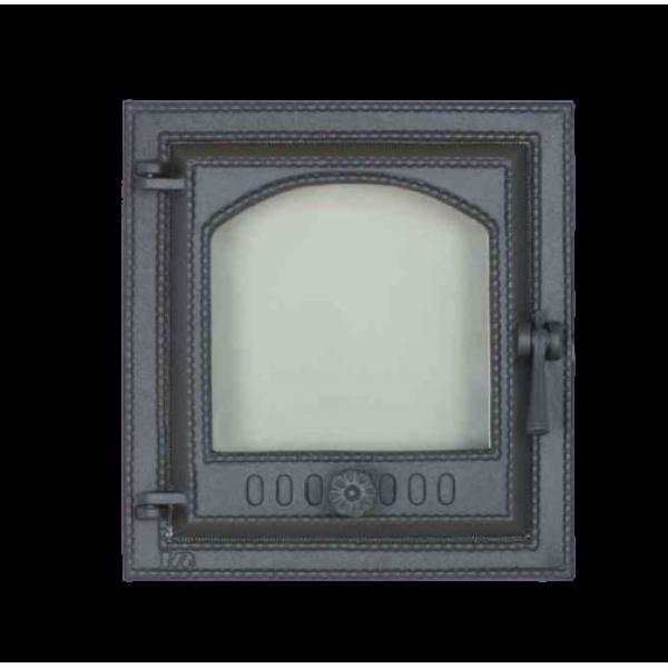Каминная дверца SVT 412 герметичная со стеклом левая, 415х380 мм