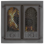 Дверца камина SVT 402 2-x створчатая, с экраном, 500х500 мм