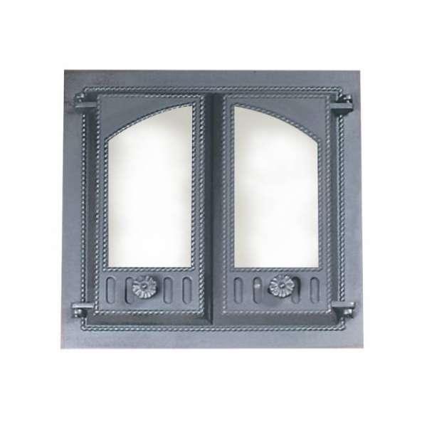Дверца камина SVT 403 2-x створчатая, без экрана, 500х500 мм
