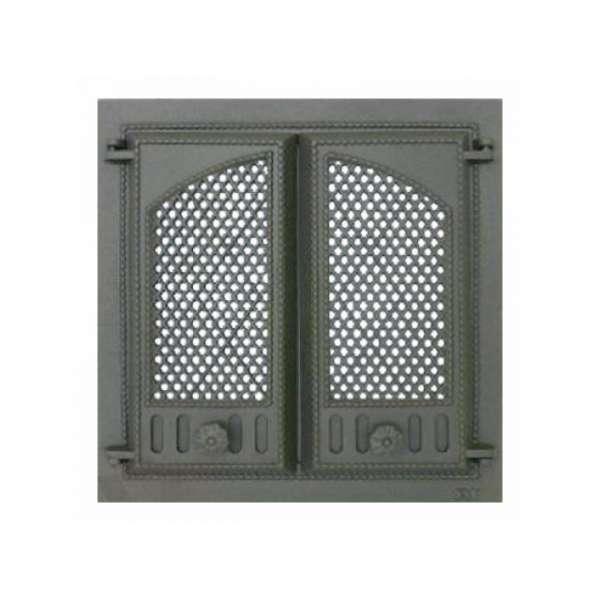 Дверца камина SVT 404 2-x створчатая с экраном, 500х500 мм