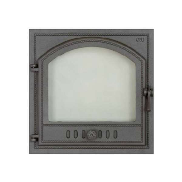 Дверца камина SVT 406 герметичная левая, 500х500 мм