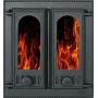 Дверца камина SVT 408 2-x створчатая без экрана, 400х365 мм