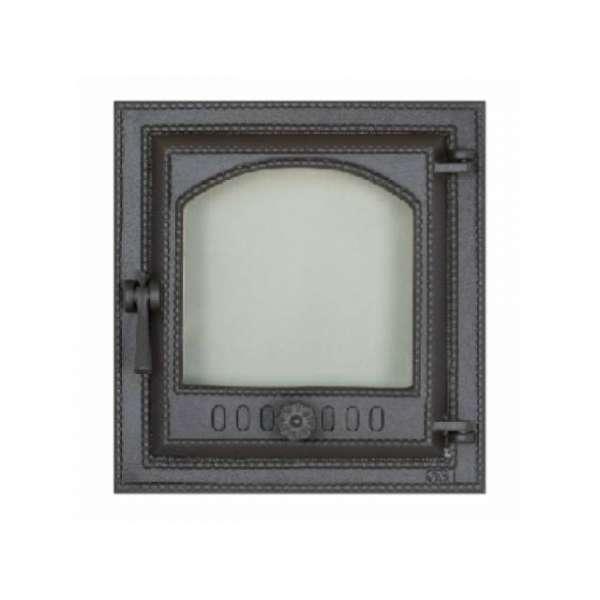 Дверца камина SVT 410 герметичная правая 400х370 мм