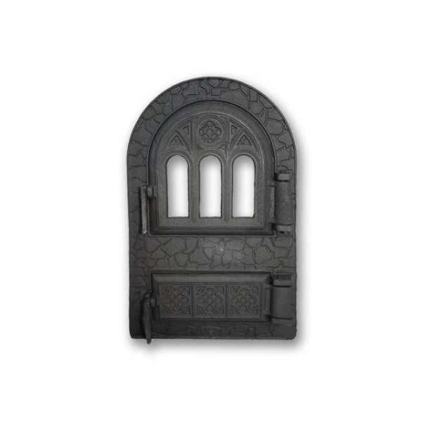 "Дверца спаренная арочная c термостеклом ""Микулин"",  530х330 мм"