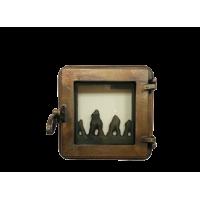 Дверца топочная со стеклом W190054