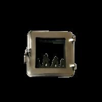 Дверца топочная со стеклом W190053