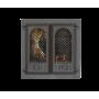 Дверца камина SVT 409 2-x створчатая с экраном, 400х365 мм