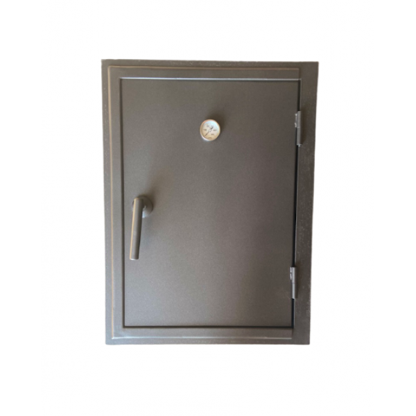Дверка на коптильню стальная с термометром, 435х585