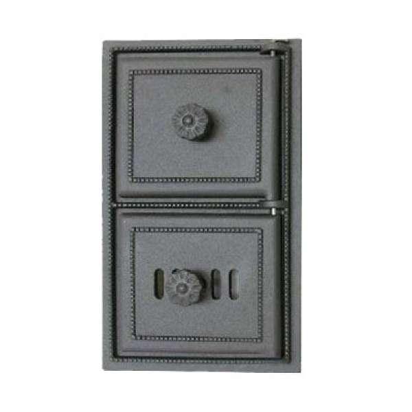 Печная дверца (люк топки) SVT 430  сплошная, 385х230 мм
