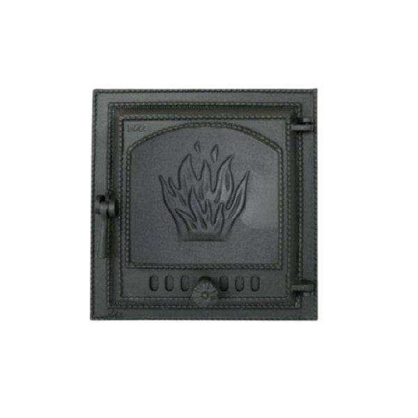 Каминная дверца SVT 411 герметичная сплошная правая, 400х370 мм