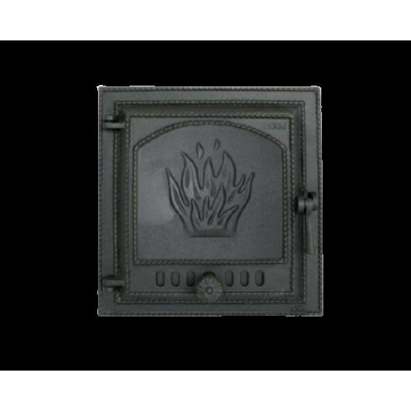 Дверца для камина SVT 419 герметичная, сплошная, левая, 400х370 мм