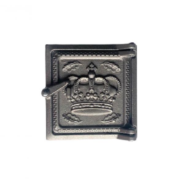 """Чугунная дверка прочистная 2 """"Корона"""", 150х155 мм"""
