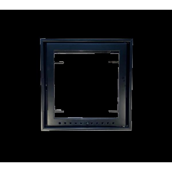 Дверца камина стальная, без экрана, 400х400 мм