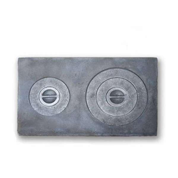 Плита чугунная двухконфорочная ПД-3, 710х410 мм