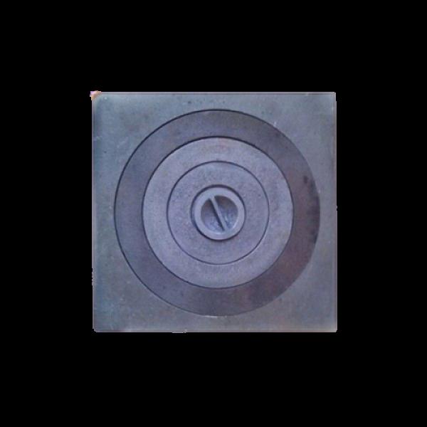 Плита одноконфорочная 410х410 мм с увеличенным отверстием