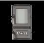 Печная дверца (люк топки) SVT 531  со стеклом симметричный герметичный, 420х243 мм