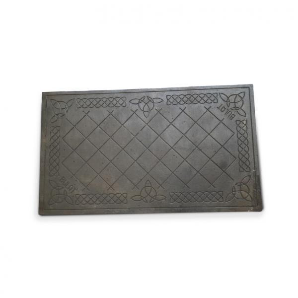 Чугунная поверхность на печь с узором, 710х410 мм