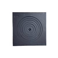 Плита чугунная одноконфорочная, 550х550 мм (6 колец)