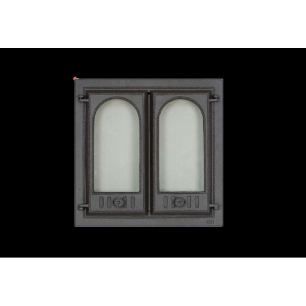 Дверца камина SVT 400 2-х створчатая без экрана, 500х500 мм