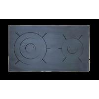 Плита стальная, двухконфорочная 710х410 мм