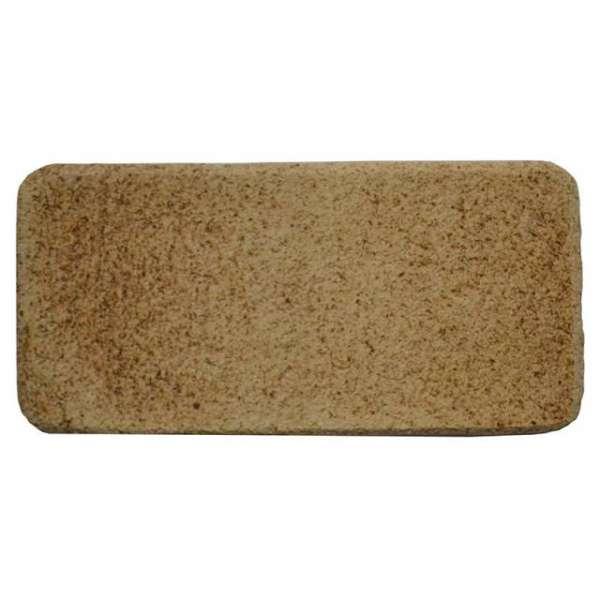 Шамотная плитка для печи ручной формовки 195х95 мм