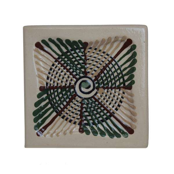 Изразц объемный прямой «Трипольский» малый для камина, печи