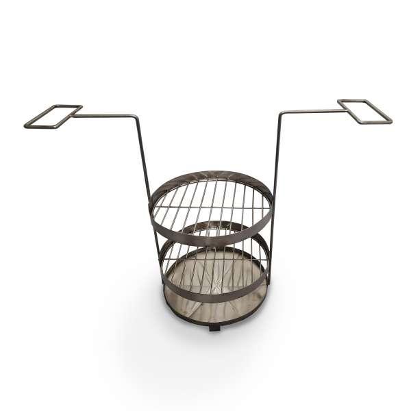 Двухъярусная решетка в тандыр с поддоном Ø260 мм