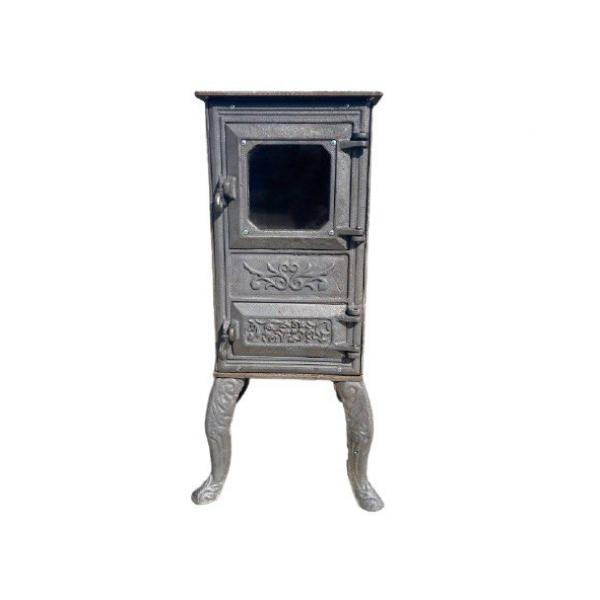"""Печь-камин с конфорками """"Триполье"""" черная"""