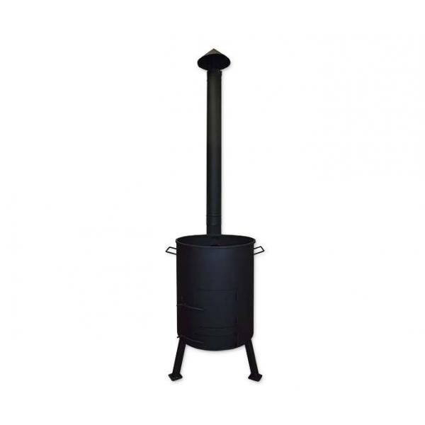 Печь для казана с поддувом и дымоходной трубой, диаметр 298 мм