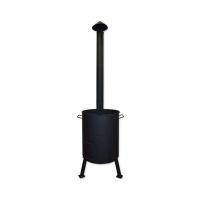 Печь под казан с поддувом и дымоходной трубой Ø 335 мм