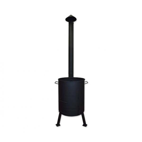 Печь для казана с поддувом и дымоходной трубой, диаметр 335 мм