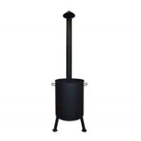 Печь под казан с поддувом и дымоходной трубой Ø 445 мм