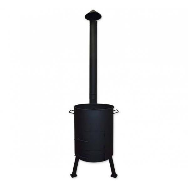Печь для казана с поддувом и дымоходной трубой, диаметр 515 мм