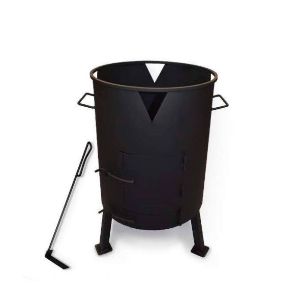 Печь для казана с поддувом, диаметр 298 мм (кочерга в комплекте)