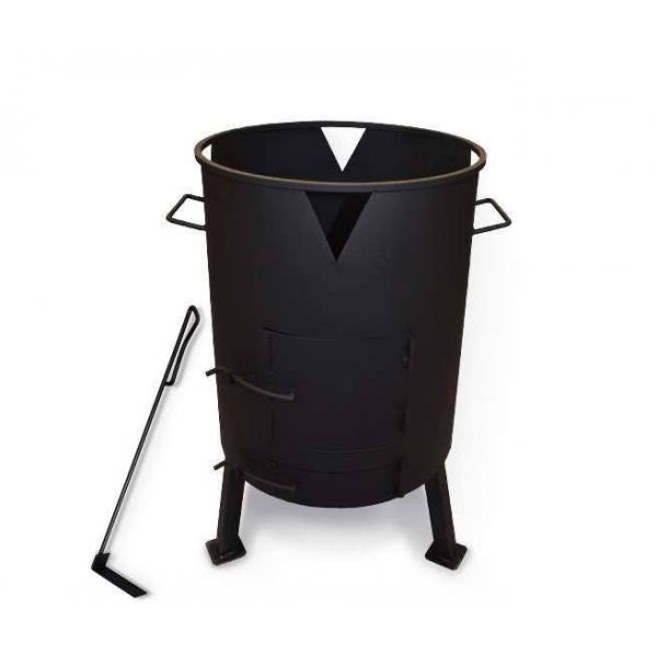Печь для казана с поддувом, диаметр 335 мм (кочерга в комплекте)