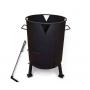 Печь для казана с поддувом, диаметр 390 мм (кочерга в комплекте)