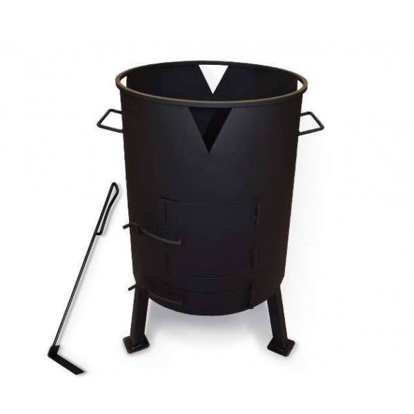 Печь для казана с поддувом, диаметр 445 мм (кочерга в комплекте)