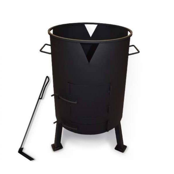 Печь для казана с поддувом, диаметр 498 мм (кочерга в комплекте)